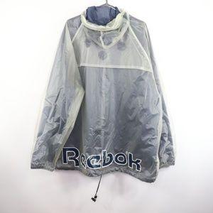 Vintage Reebok Spell Out See Through Rain Jacket